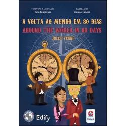 A volta ao mundo em 80 dias - Bilíngue Inglês
